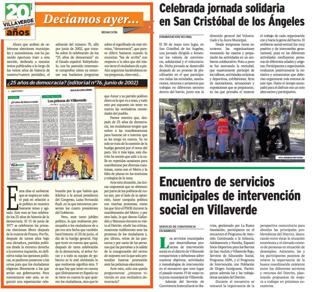 encuentro de servicios municipales de intervención social en Villaverde