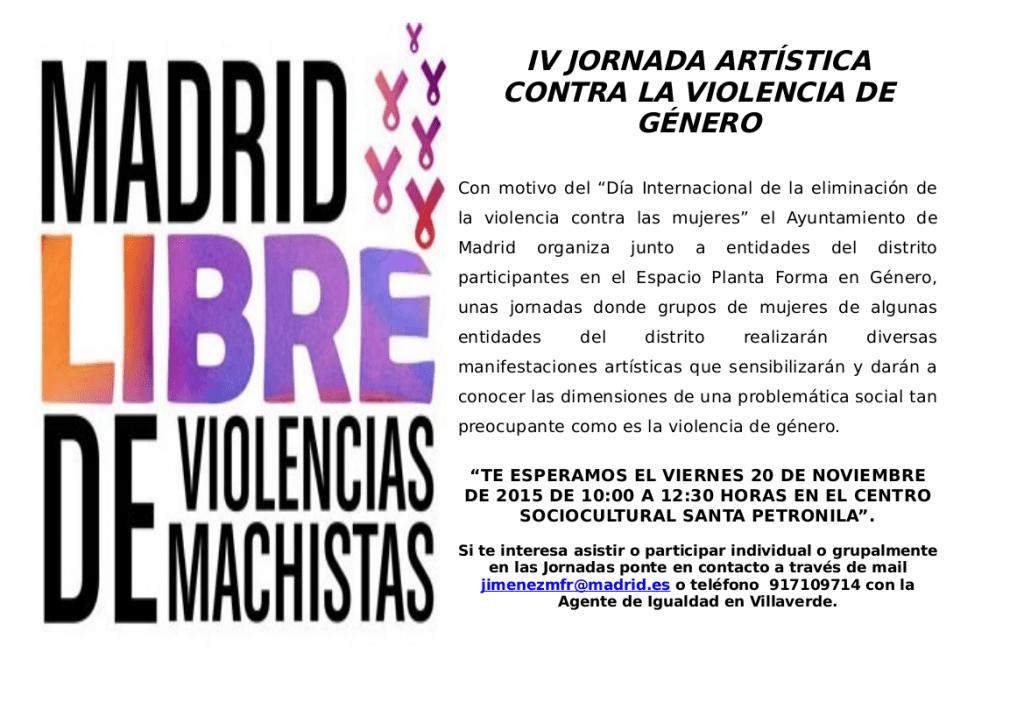 CARTEL DE LAS IV JORNADAS ARTÍSTICAS