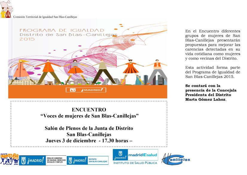cartel ENCUENTRO VOCES DE MUJERES SB-C-1