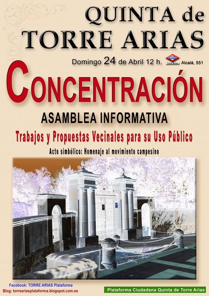 Concentración Torre Arias